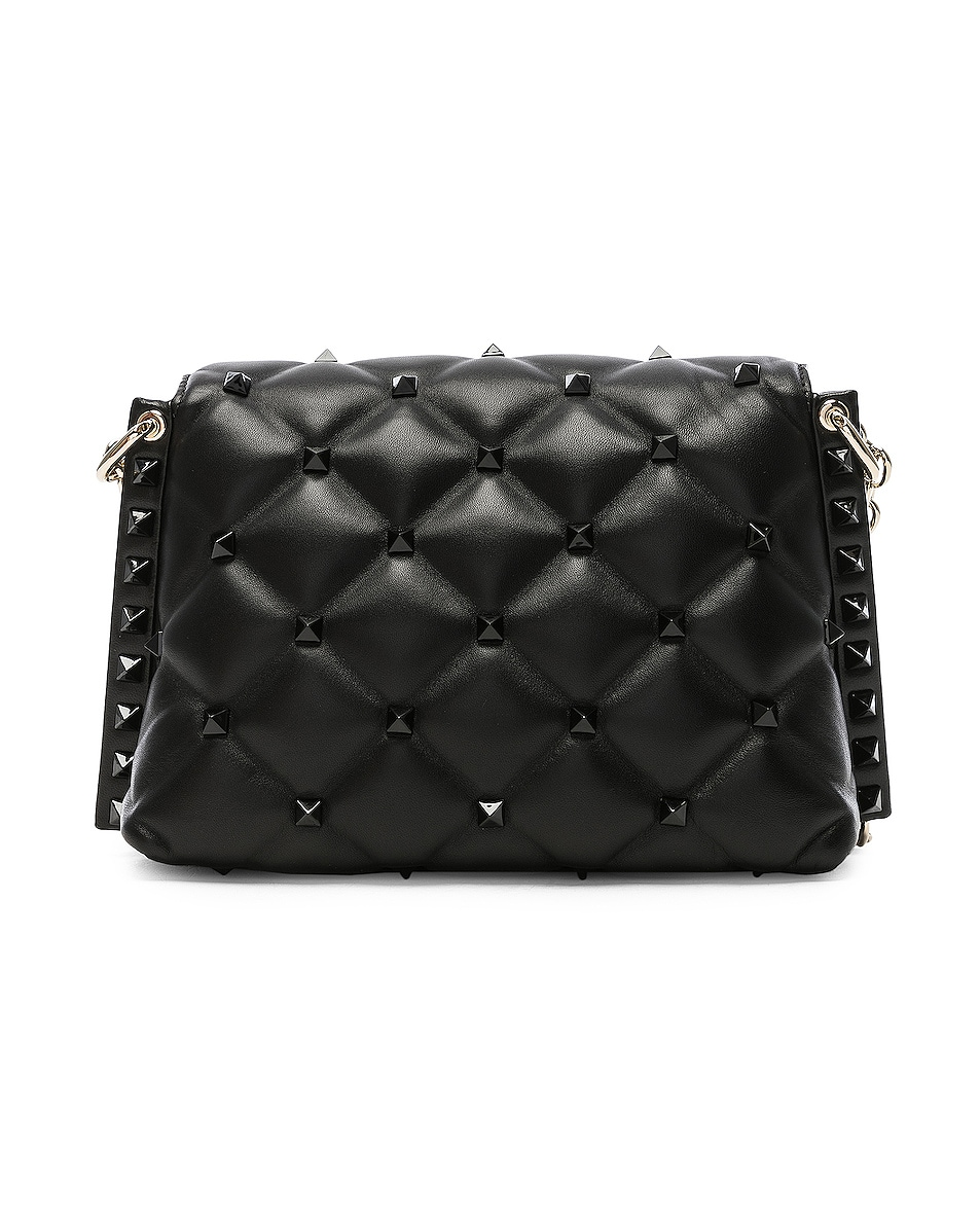 Image 3 of Valentino Medium Candystud Shoulder Bag in Black