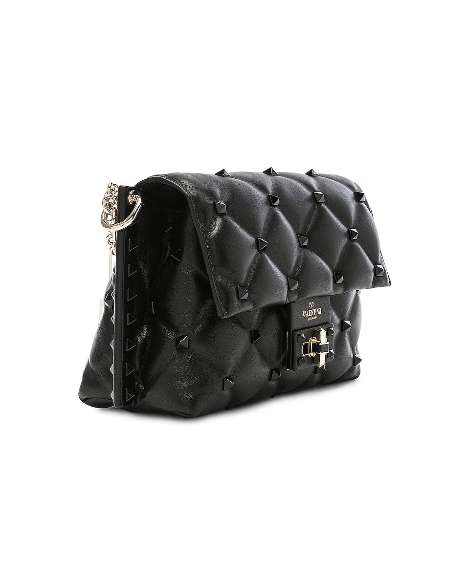 Image 4 of Valentino Medium Candystud Shoulder Bag in Black