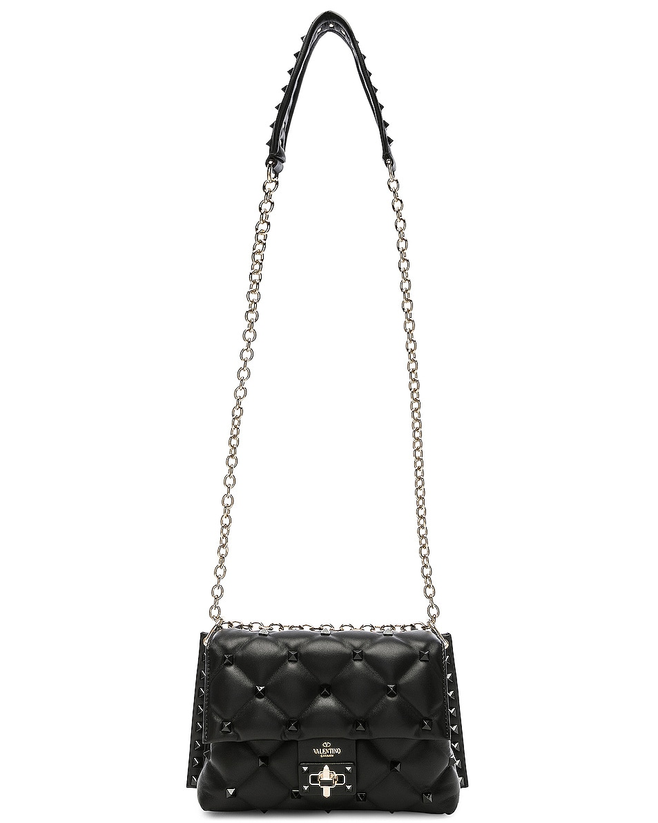 Image 6 of Valentino Medium Candystud Shoulder Bag in Black