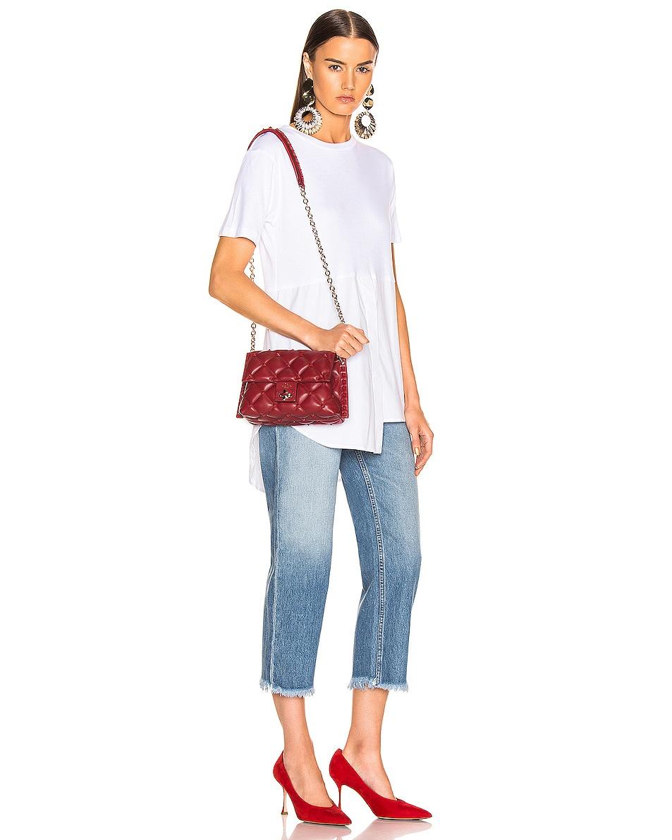 Image 2 of Valentino Medium Candystud Shoulder Bag in Red