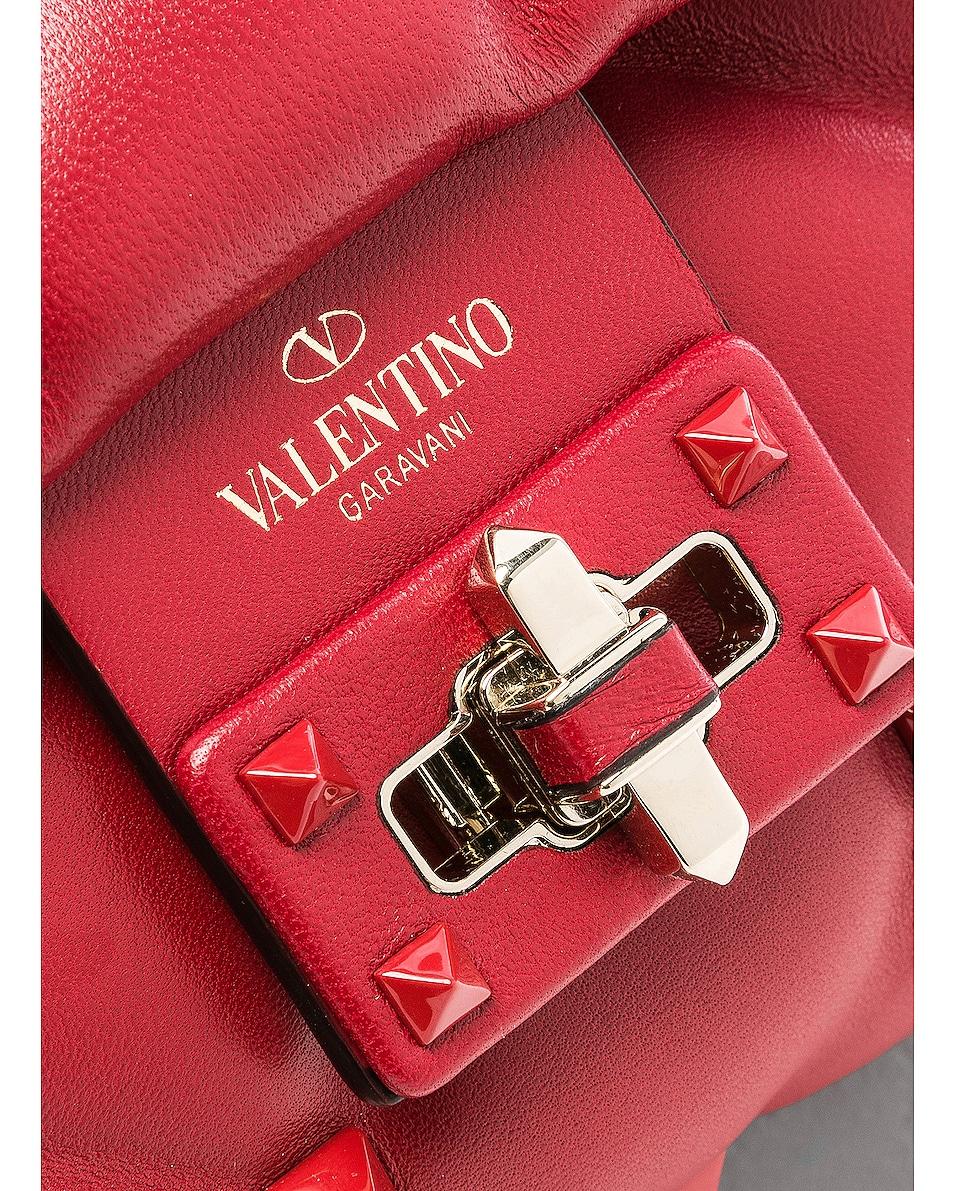 Image 8 of Valentino Medium Candystud Shoulder Bag in Red