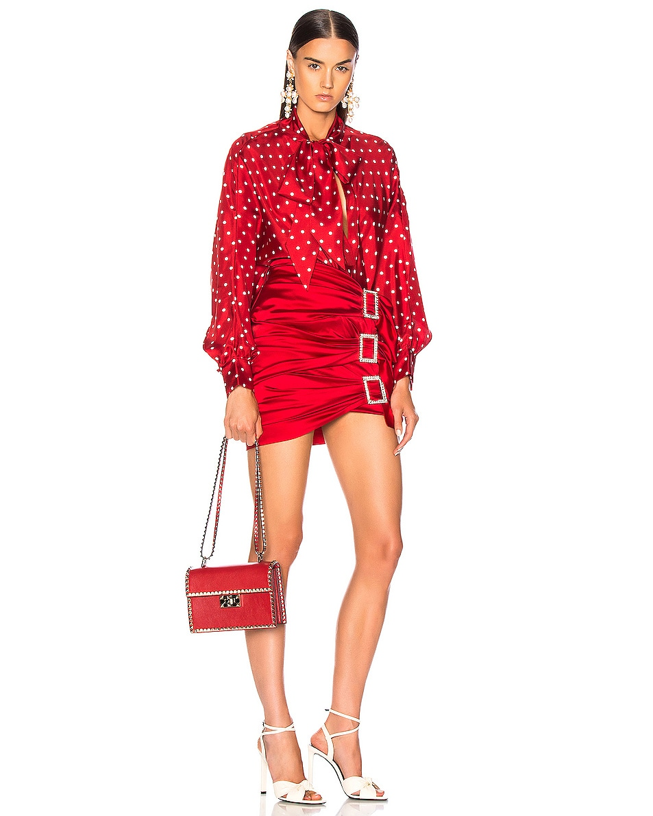 Image 2 of Valentino Small Rockstud No Limit Crossbody Bag in Red