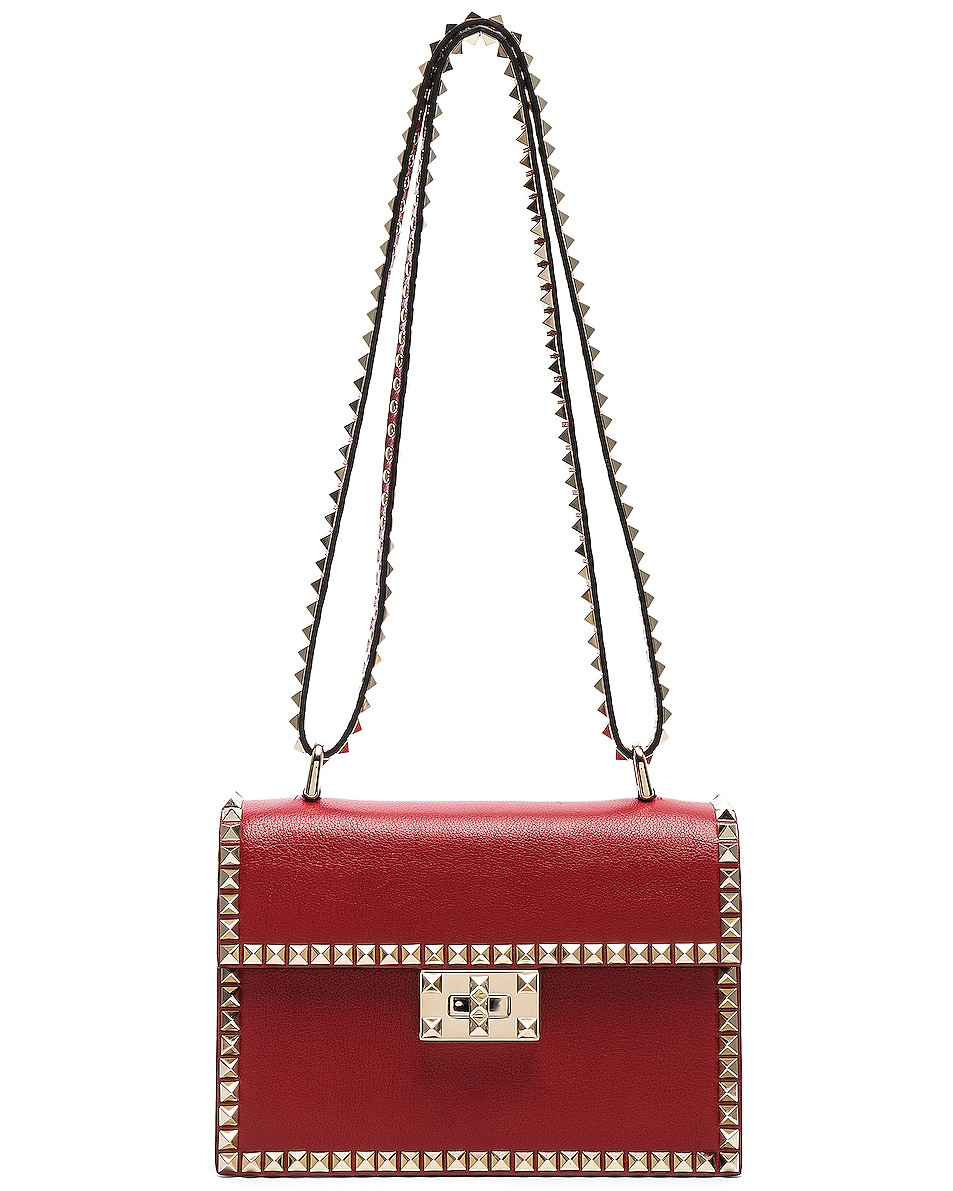 Image 6 of Valentino Small Rockstud No Limit Crossbody Bag in Red