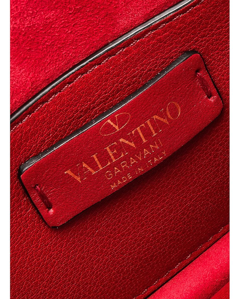 Image 7 of Valentino Small Rockstud No Limit Crossbody Bag in Red