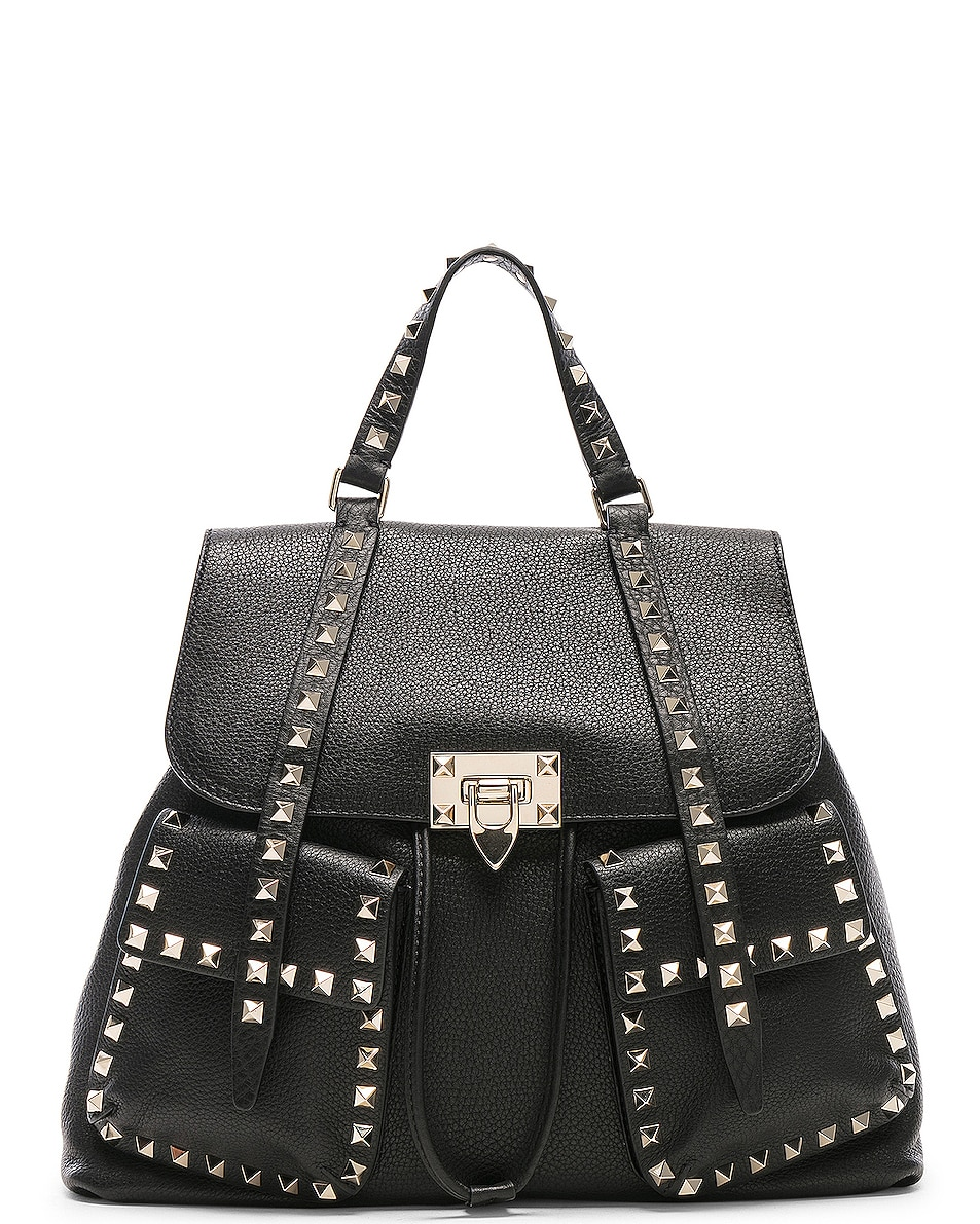 Image 1 of Valentino Rockstud Backpack in Black