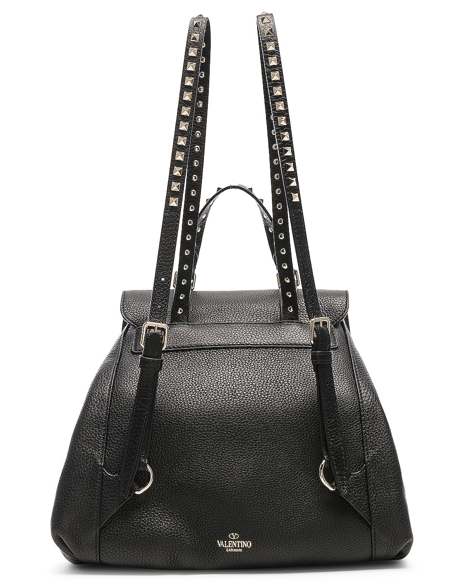 Image 3 of Valentino Rockstud Backpack in Black