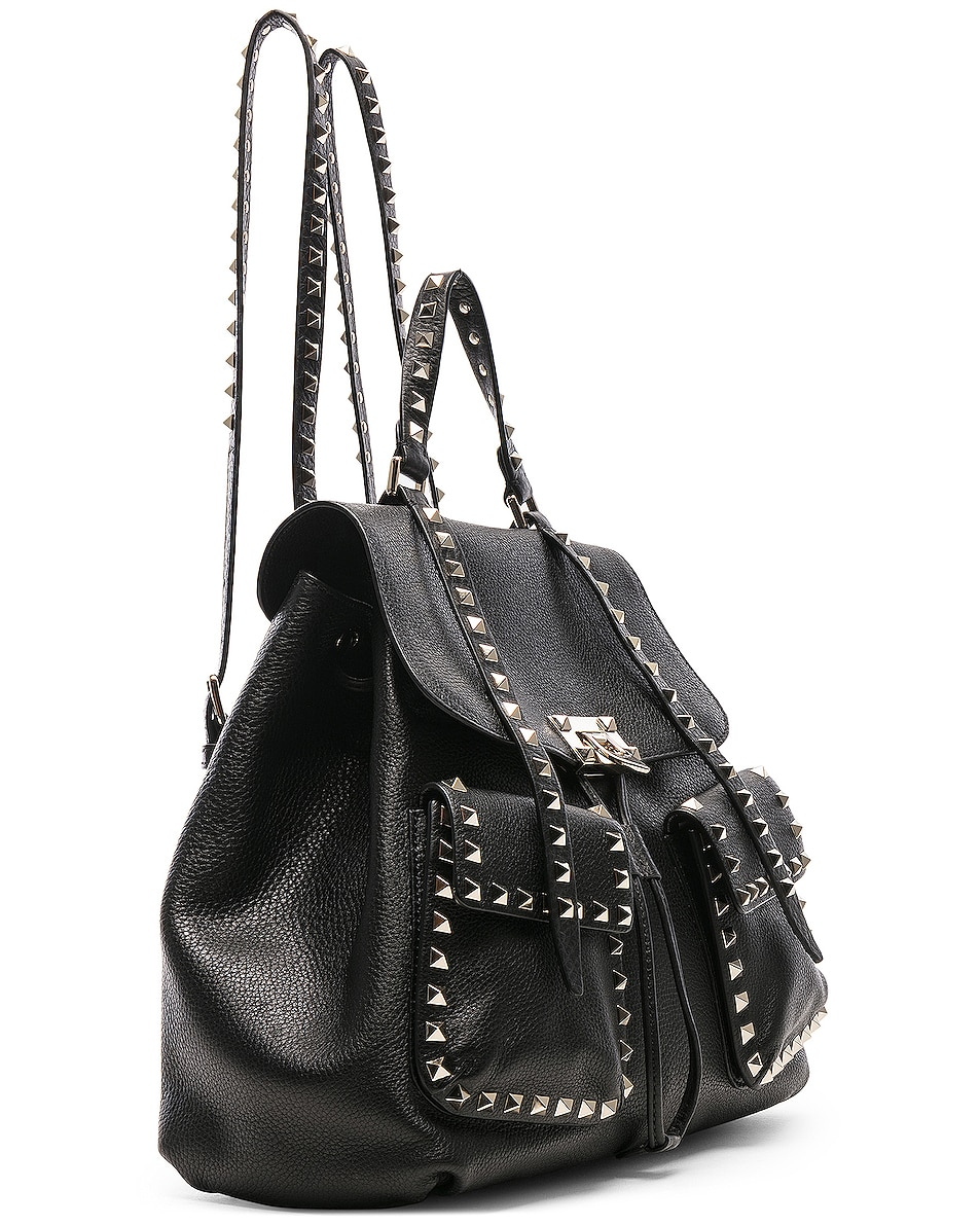 Image 4 of Valentino Rockstud Backpack in Black