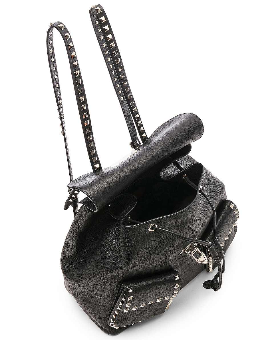 Image 5 of Valentino Rockstud Backpack in Black