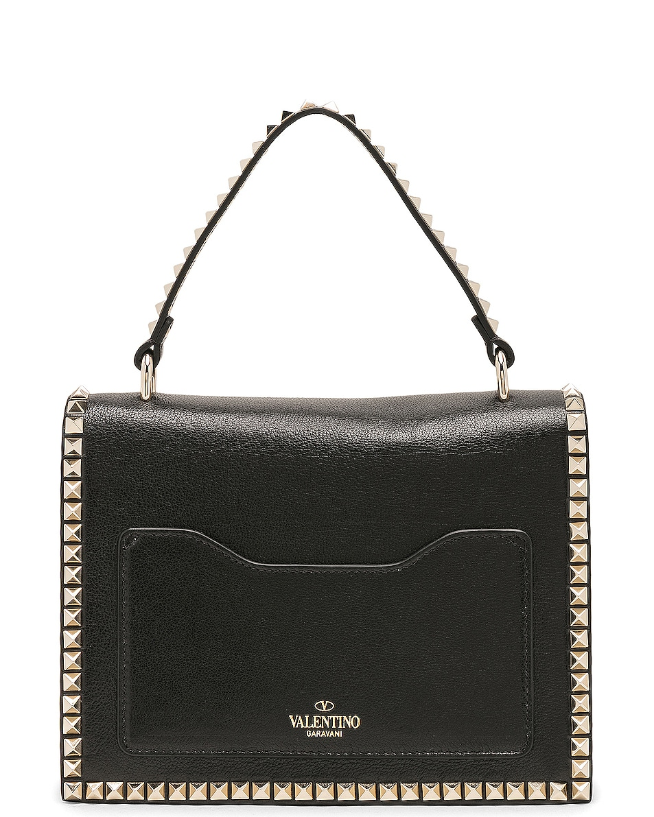 Image 2 of Valentino Rockstud No Limit Top Handle Bag in Black