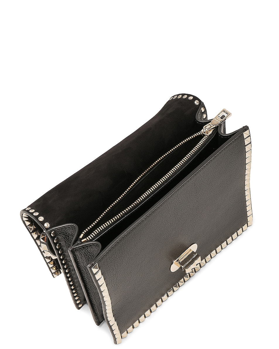 Image 4 of Valentino Rockstud No Limit Top Handle Bag in Black