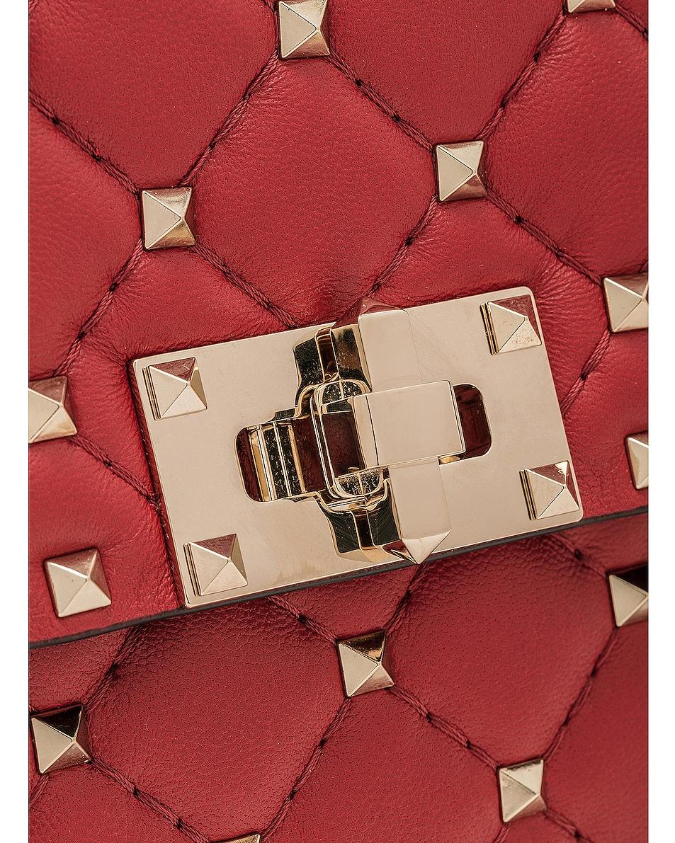 Image 8 of Valentino Rockstud Spike Medium Shoulder Bag in Red