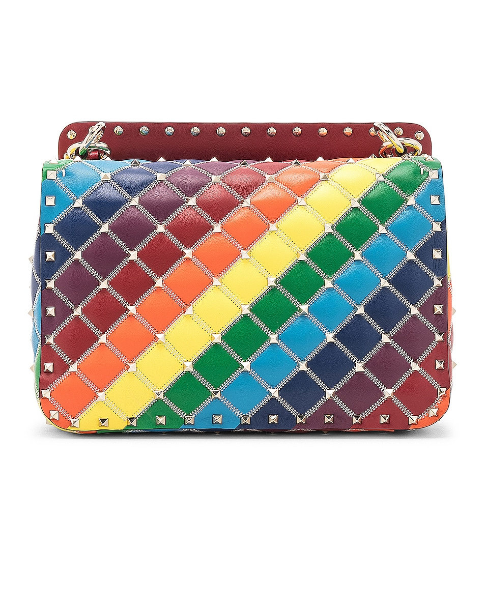 Image 3 of Valentino Spike It Medium Shoulder Bag in Rainbow