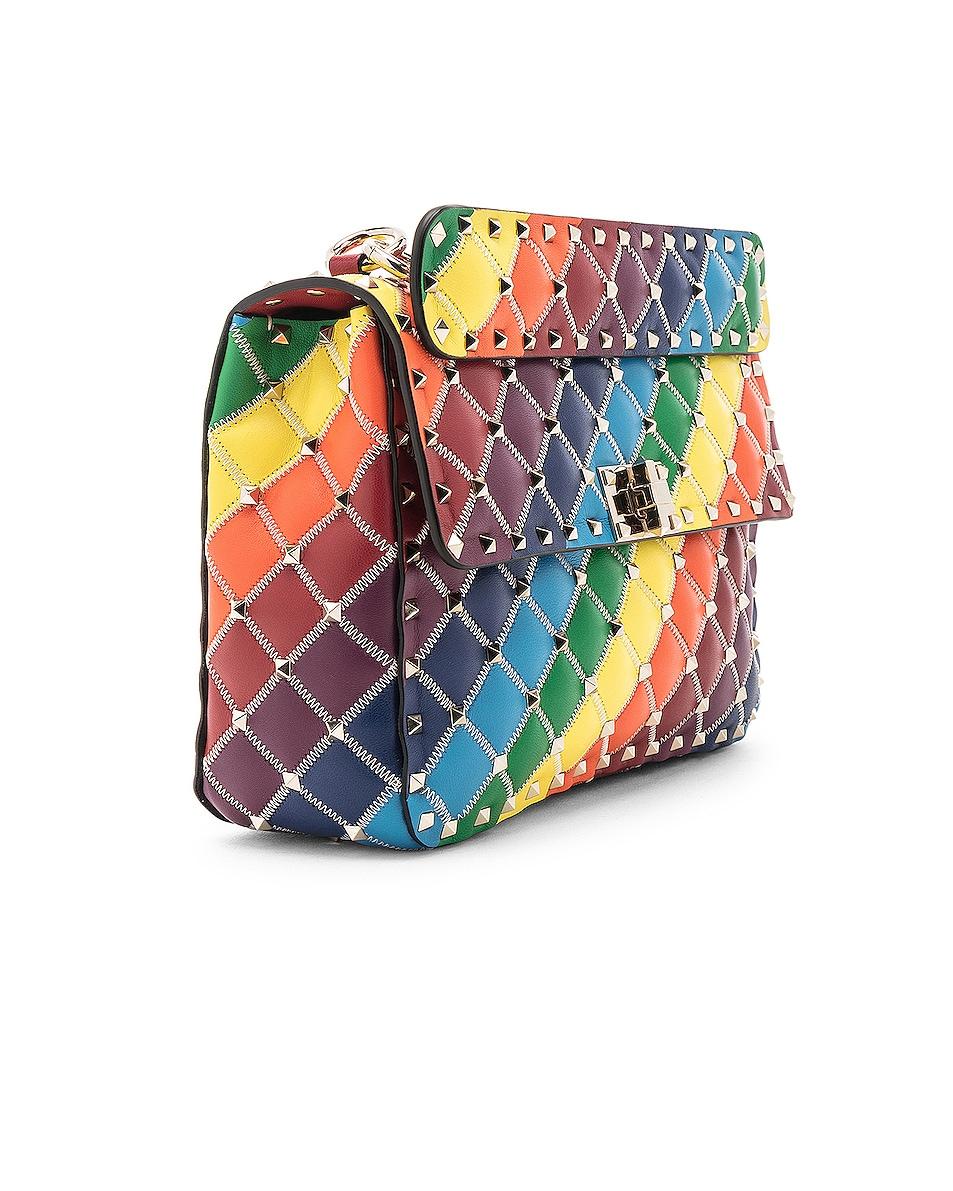 Image 4 of Valentino Spike It Medium Shoulder Bag in Rainbow