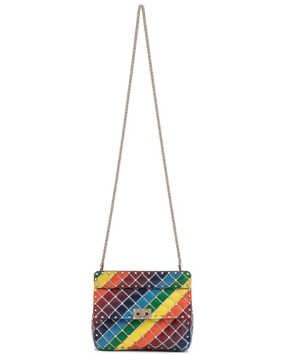Image 6 of Valentino Spike It Medium Shoulder Bag in Rainbow