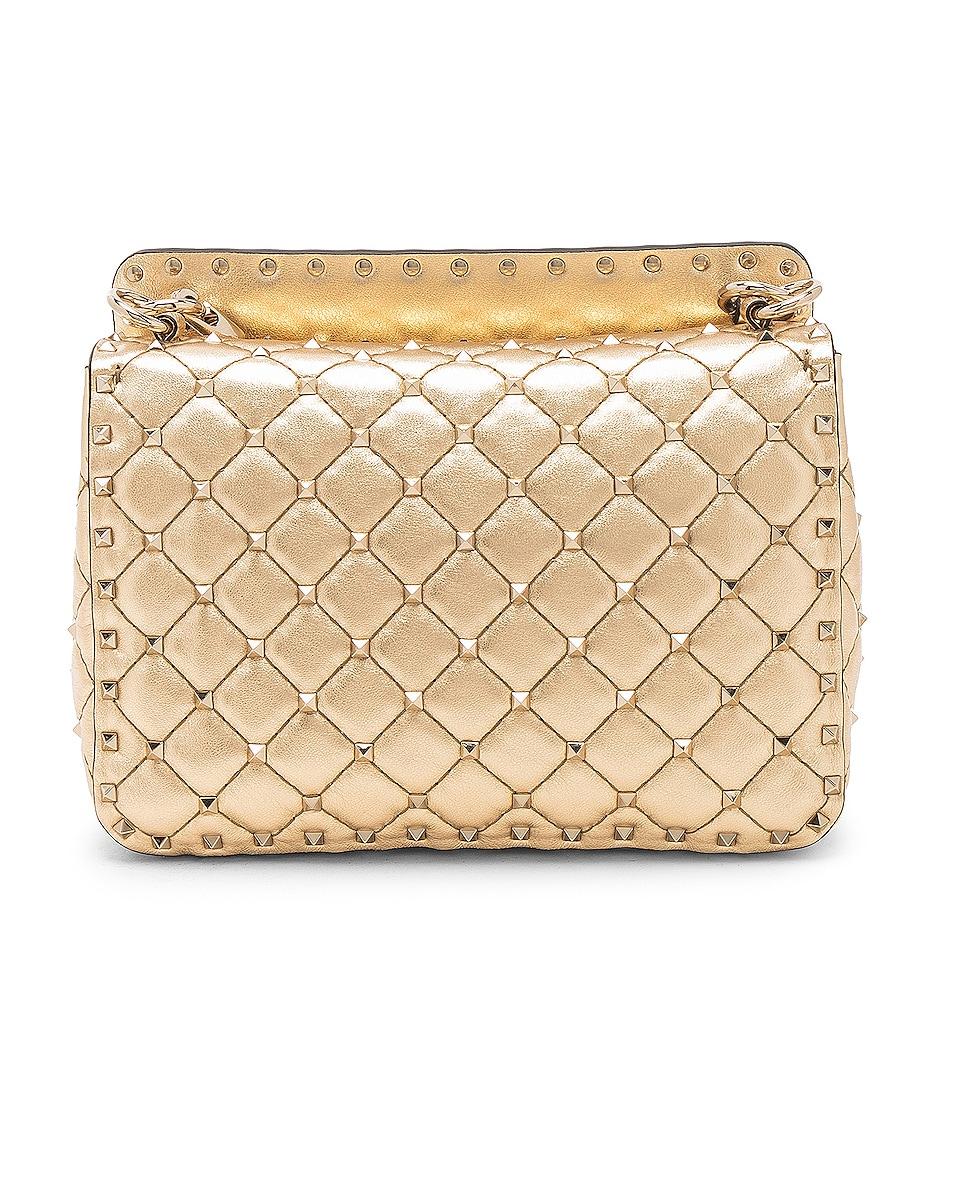 Image 3 of Valentino Rockstud Spike Medium Shoulder Bag in Gold & Platinum