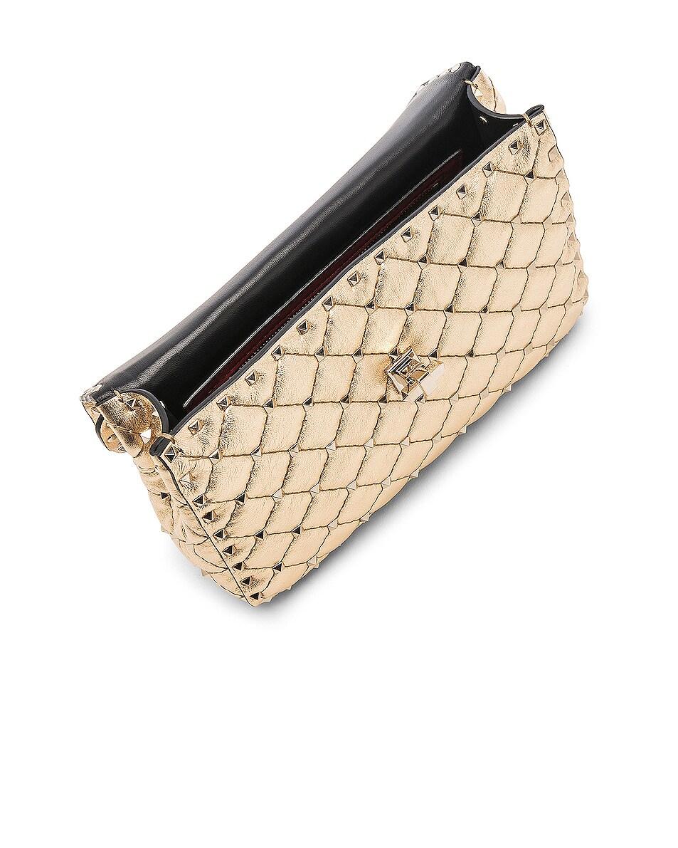 Image 5 of Valentino Rockstud Spike Medium Shoulder Bag in Gold & Platinum