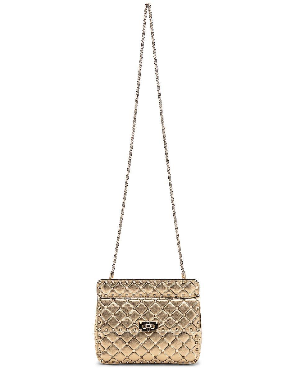 Image 6 of Valentino Rockstud Spike Medium Shoulder Bag in Gold & Platinum