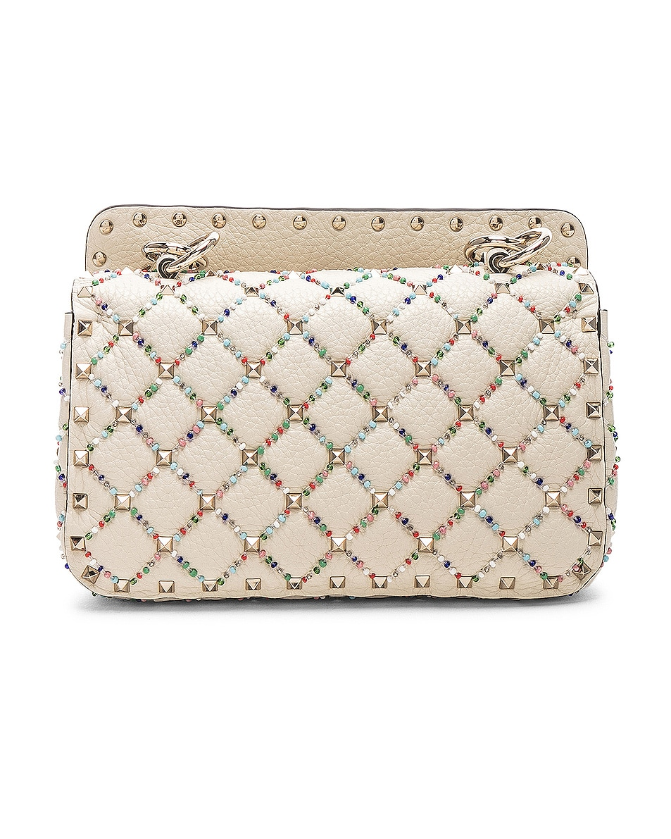 Image 3 of Valentino Spike It Small Shoulder Bag in Light Ivory