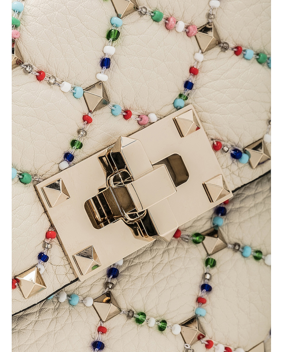 Image 8 of Valentino Spike It Small Shoulder Bag in Light Ivory