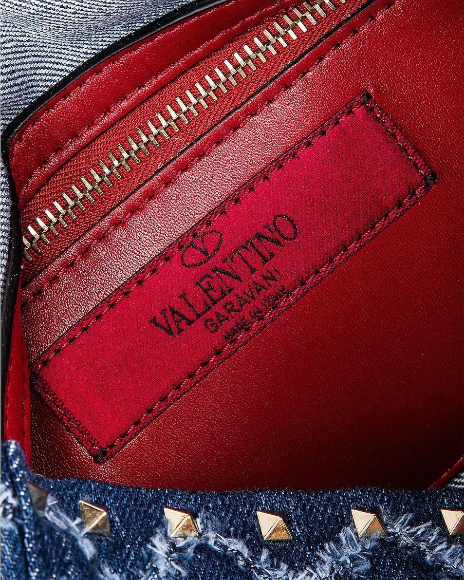 Image 7 of Valentino Rockstud Spike Medium Shoulder Bag in Denim