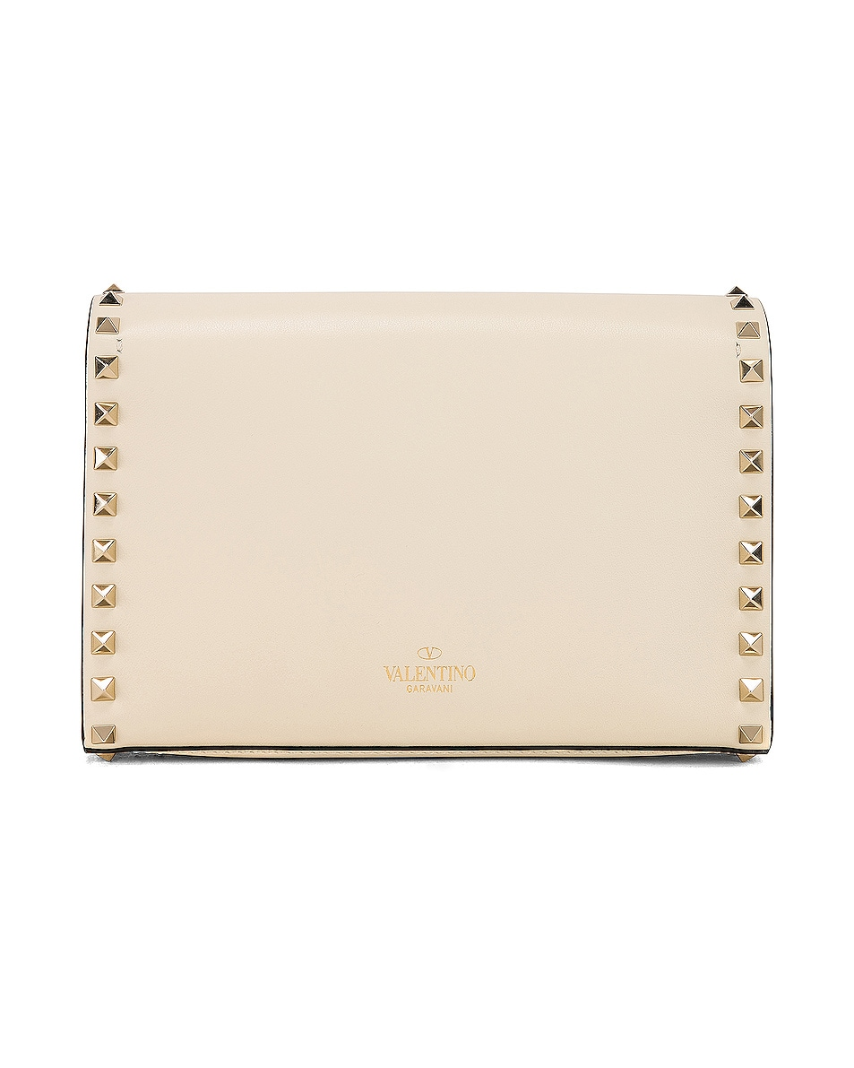 Image 3 of Valentino Rockstud Small Shoulder Bag in Light Ivory