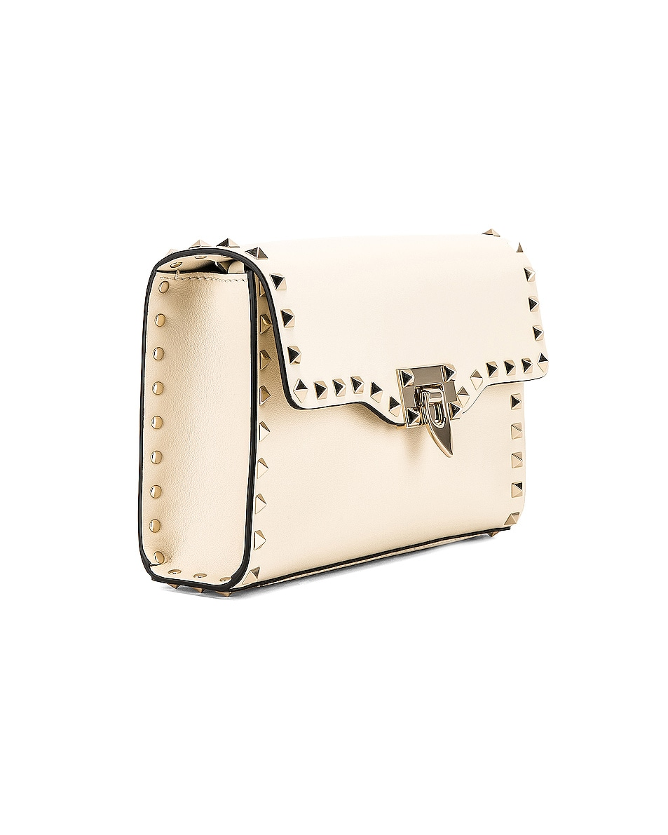 Image 4 of Valentino Rockstud Small Shoulder Bag in Light Ivory