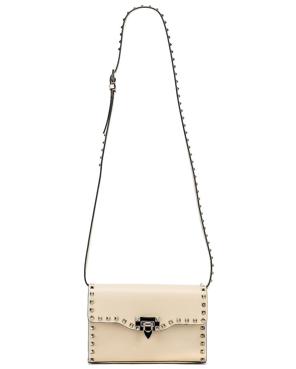 Image 6 of Valentino Rockstud Small Shoulder Bag in Light Ivory