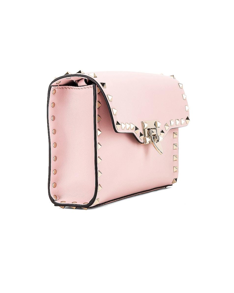 Image 4 of Valentino Rockstud Small Shoulder Bag in Water Rose
