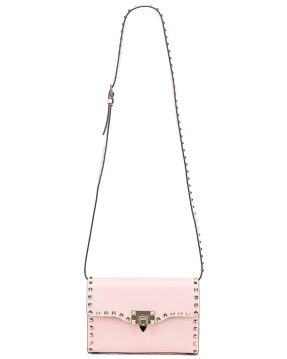 Image 6 of Valentino Rockstud Small Shoulder Bag in Water Rose