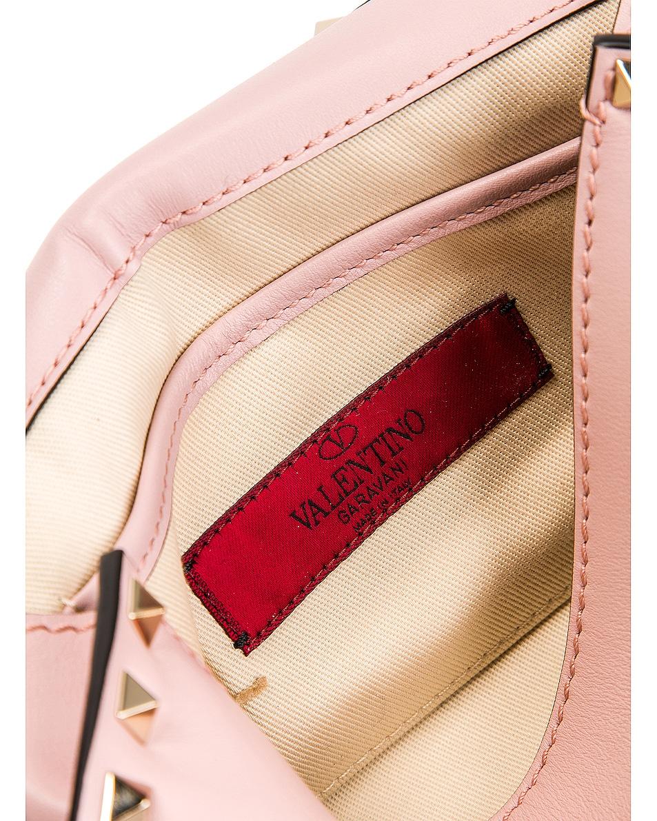 Image 7 of Valentino Rockstud Small Shoulder Bag in Water Rose