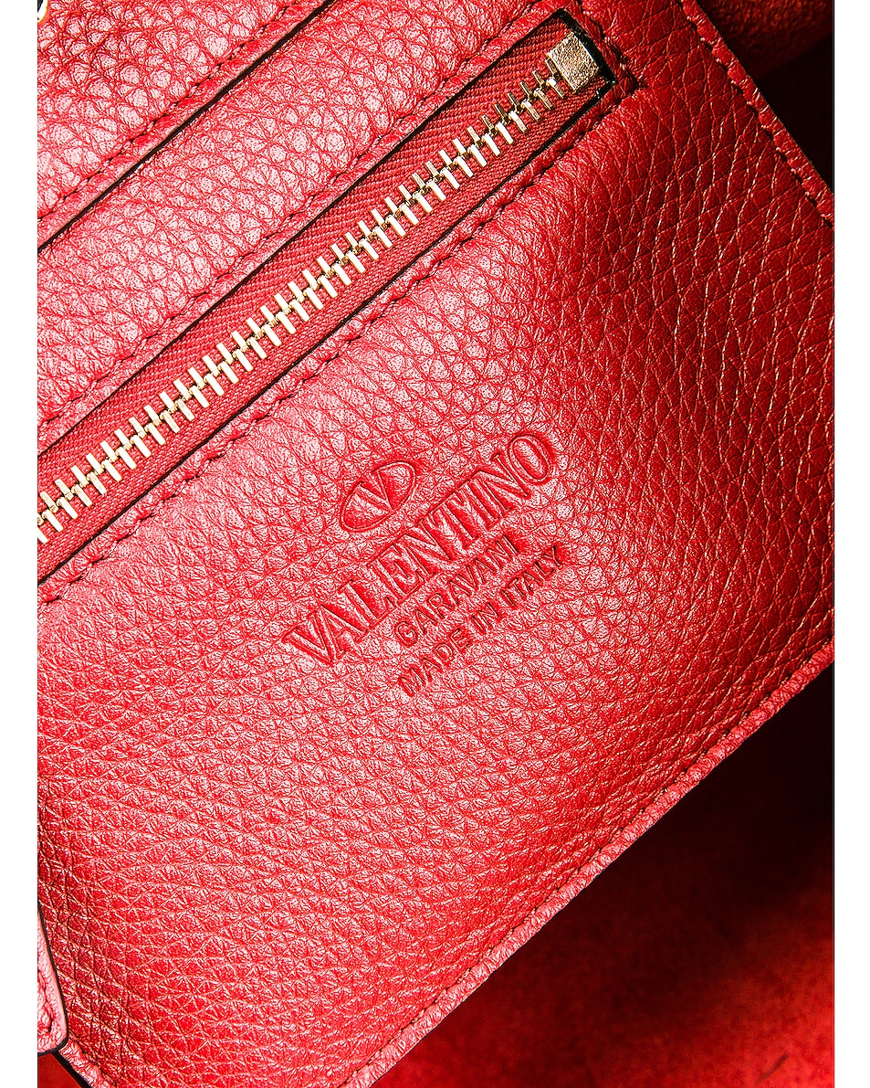 Image 7 of Valentino Rockstud Mini Tote in Red