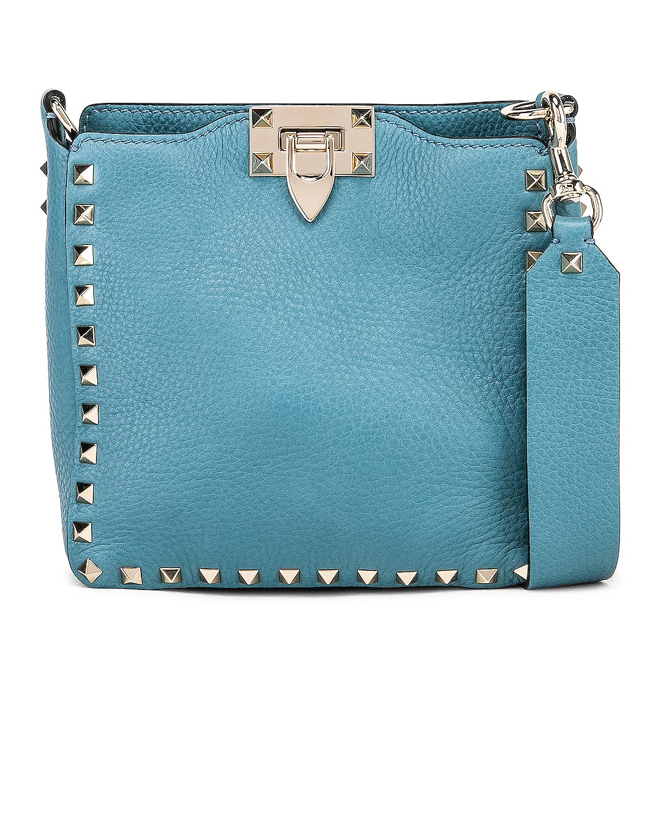Image 1 of Valentino Rockstud Mini Hobo Bag in Atlantique
