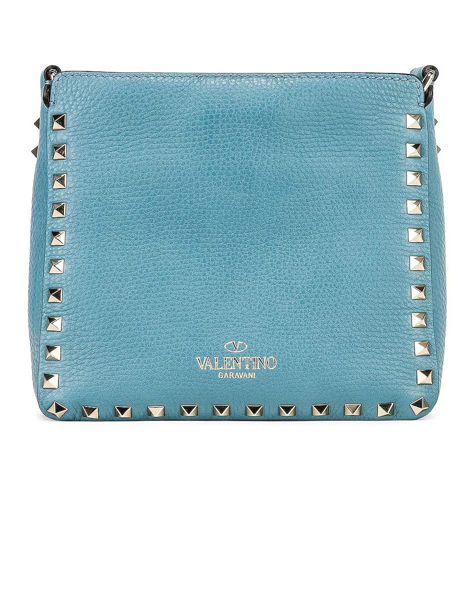Image 3 of Valentino Rockstud Mini Hobo Bag in Atlantique