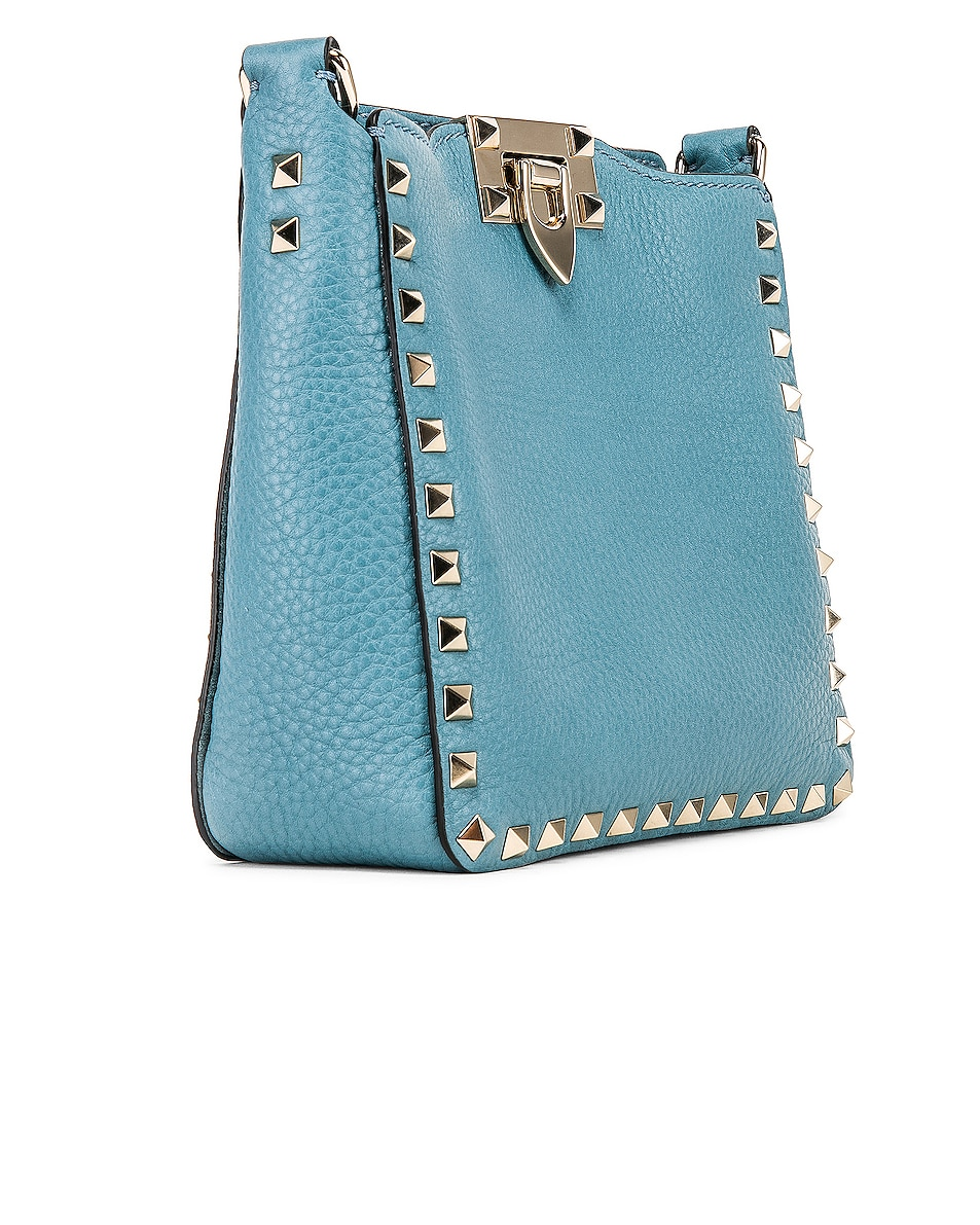 Image 4 of Valentino Rockstud Mini Hobo Bag in Atlantique