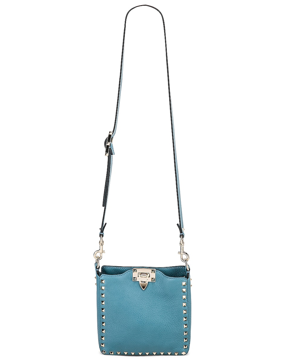 Image 6 of Valentino Rockstud Mini Hobo Bag in Atlantique