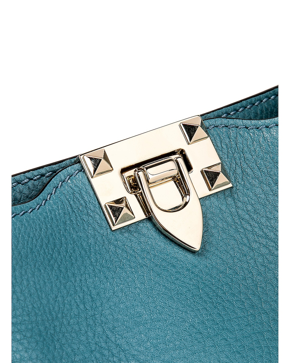 Image 8 of Valentino Rockstud Mini Hobo Bag in Atlantique