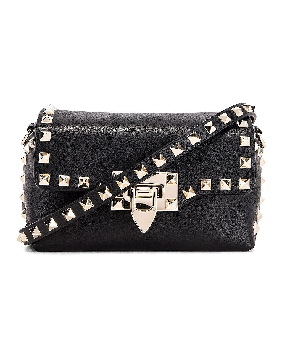 Image 1 of Valentino Rockstud Mini Crossbody Bag in Nero