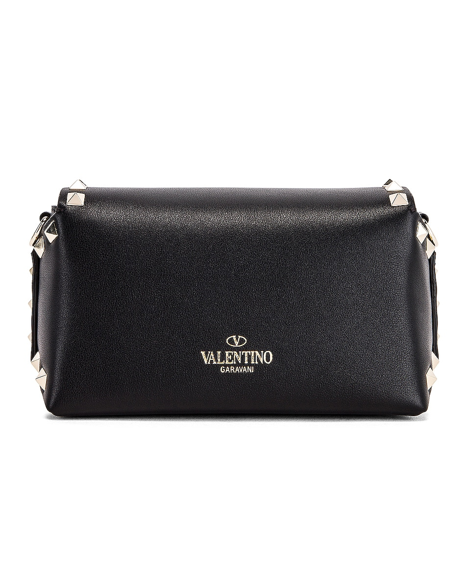 Image 3 of Valentino Rockstud Mini Crossbody Bag in Nero
