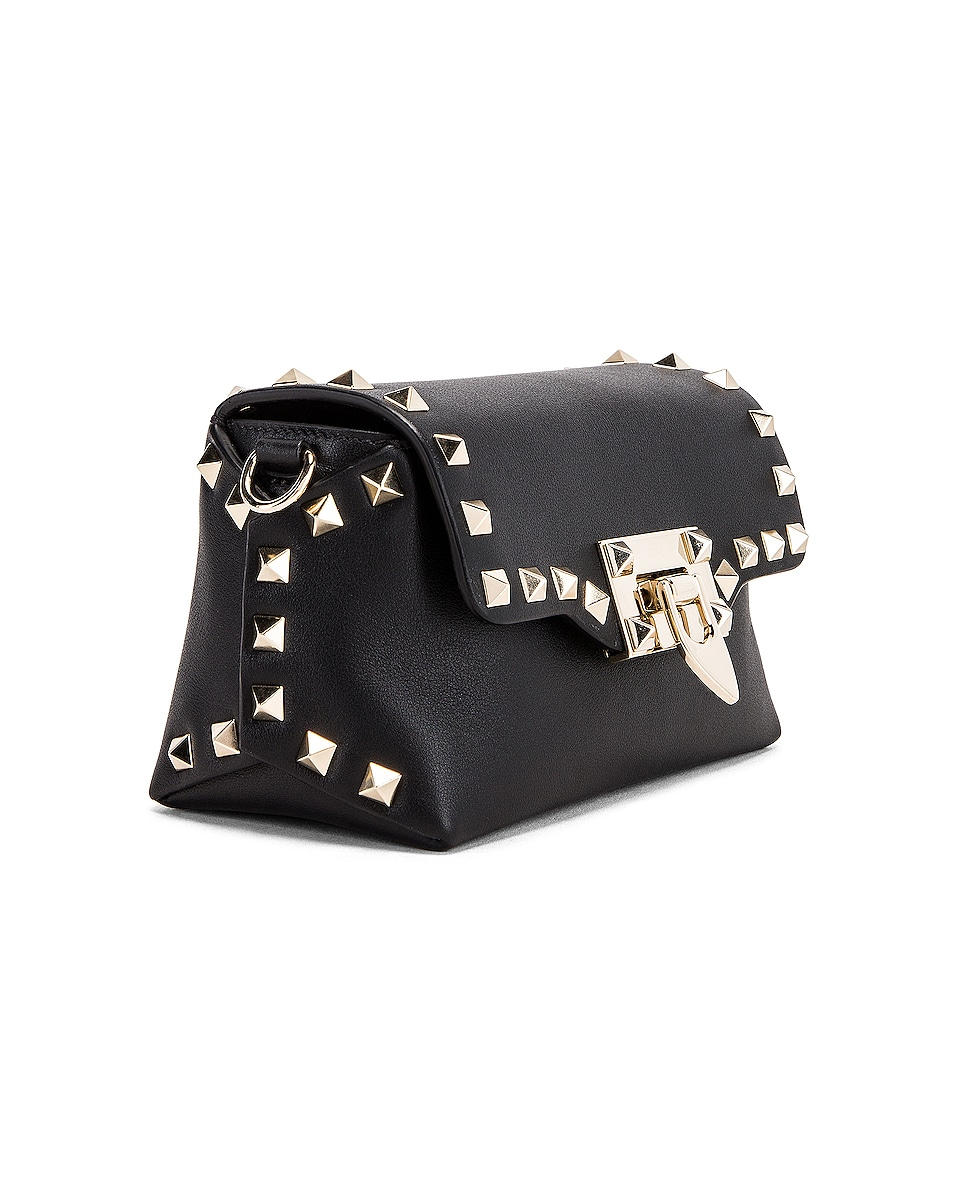 Image 4 of Valentino Rockstud Mini Crossbody Bag in Nero