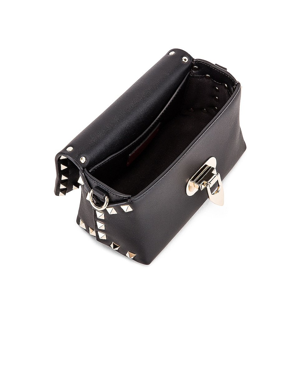 Image 5 of Valentino Rockstud Mini Crossbody Bag in Nero