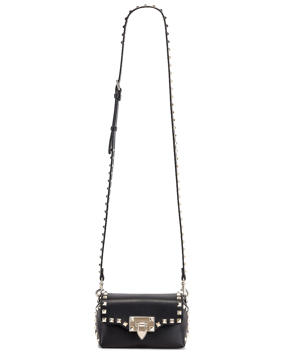 Image 6 of Valentino Rockstud Mini Crossbody Bag in Nero