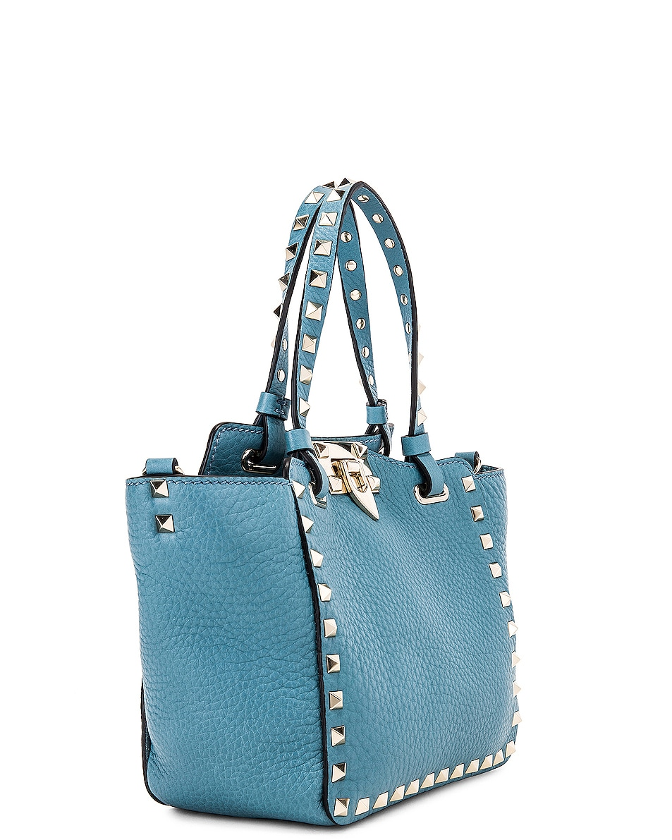 Image 4 of Valentino Rockstud Mini Tote in Atlantique
