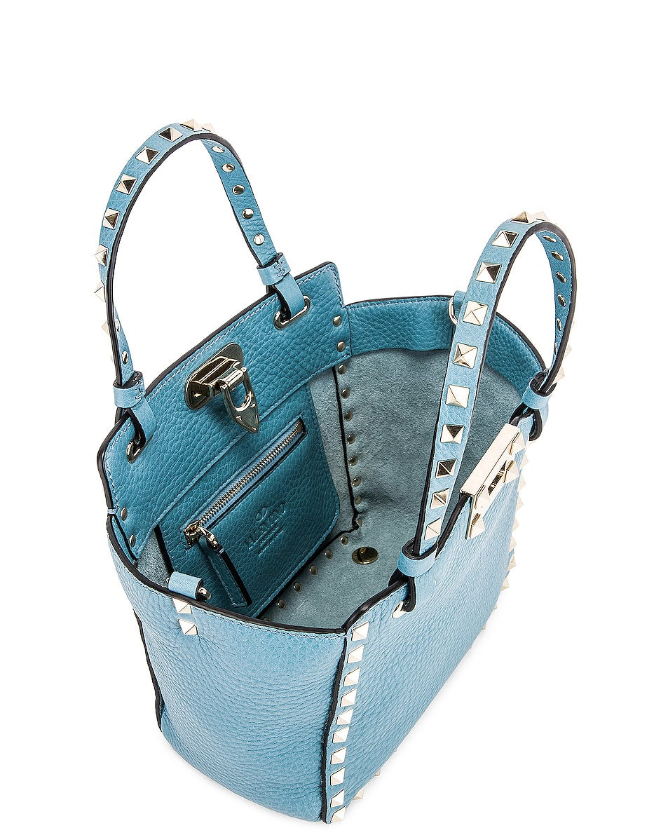 Image 5 of Valentino Rockstud Mini Tote in Atlantique