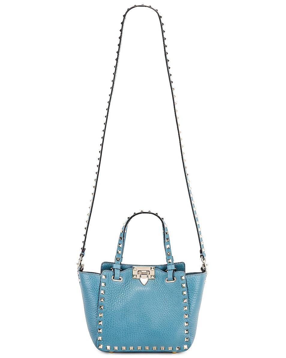 Image 6 of Valentino Rockstud Mini Tote in Atlantique