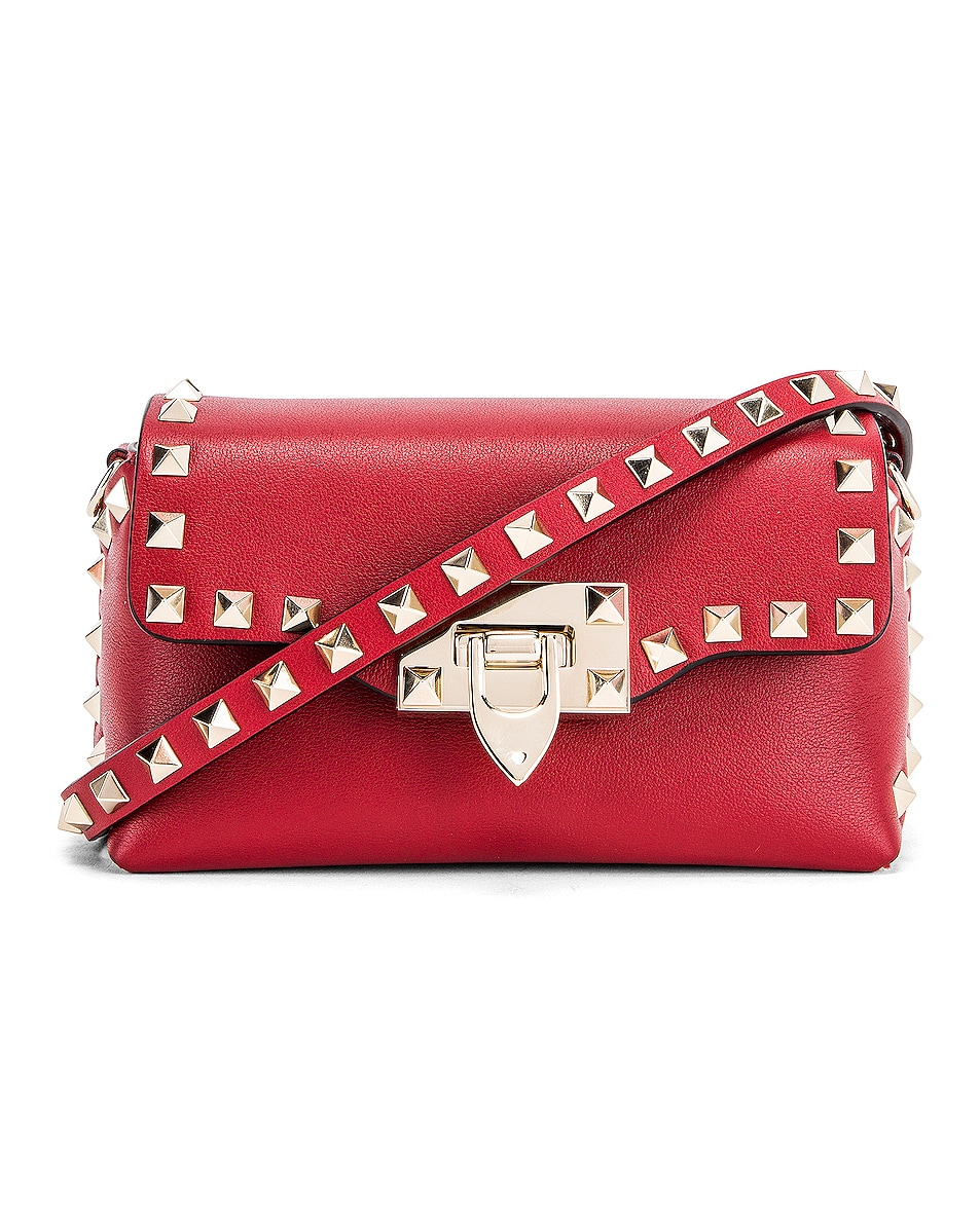 Image 1 of Valentino Rockstud Mini Crossbody Bag in Rosso V