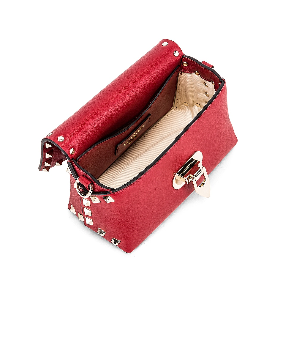 Image 5 of Valentino Rockstud Mini Crossbody Bag in Rosso V