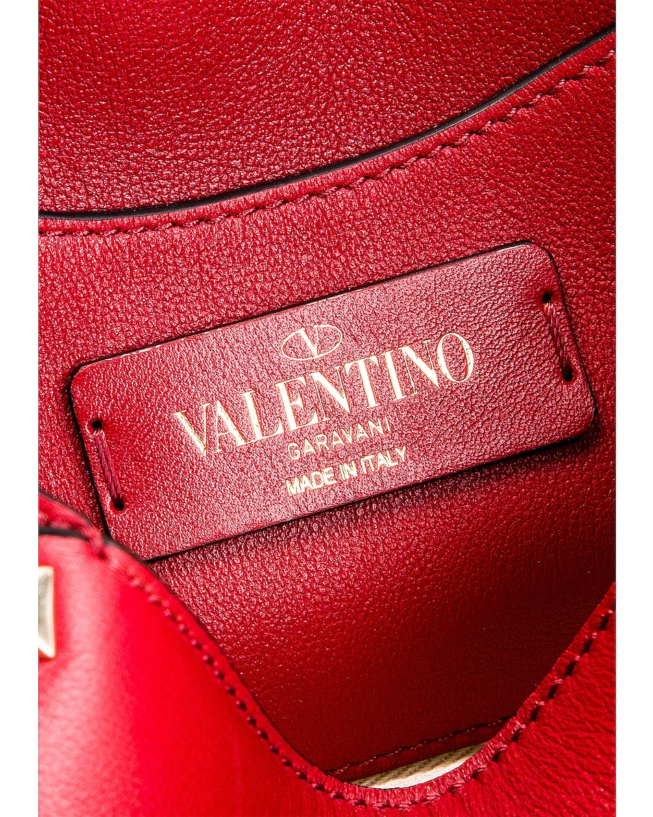 Image 7 of Valentino Rockstud Mini Crossbody Bag in Rosso V