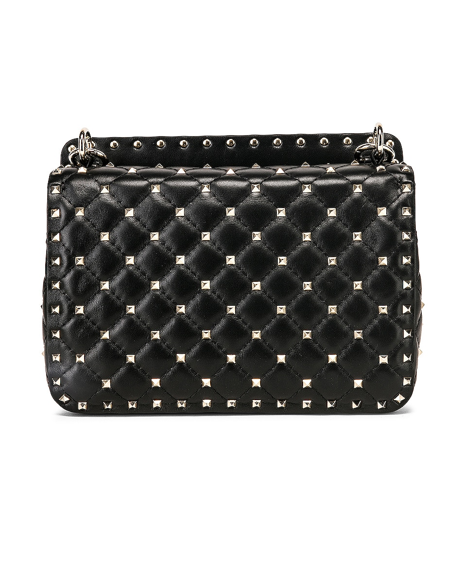 Image 3 of Valentino Medium Rockstud Spike Shoulder Bag in Nero