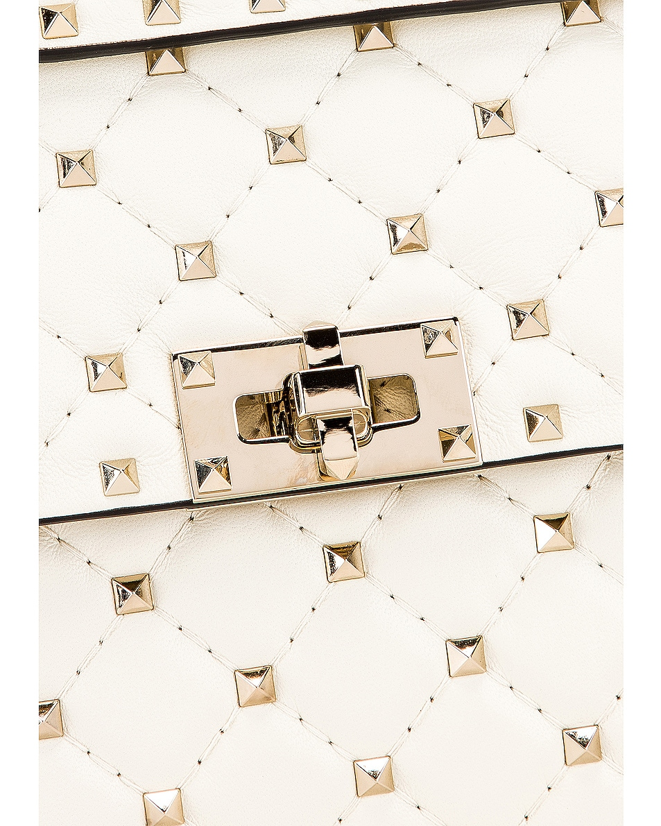 Image 8 of Valentino Medium Rockstud Spike Shoulder Bag in Light Ivory