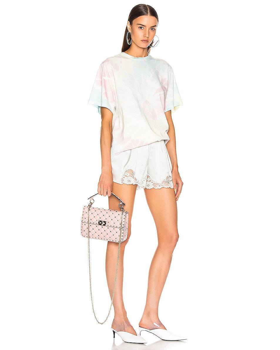 Image 2 of Valentino Medium Rockstud Spike Shoulder Bag in Water Rose